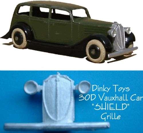 "Dinky Toys 30D Vauxhall "" SHIELD GRILLE ""  Radiator [ Each ]"